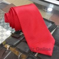 Dasi Panjang Pria Motif Salur Merah - Lebar 3 inch (7,5 - 8cm)
