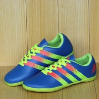 Sepatu Futsal anak adidas ace Biru hijau stabilo