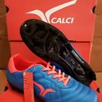 SEPATU BOLA CALCI EPIC SC-S BLUE/T ORANGE