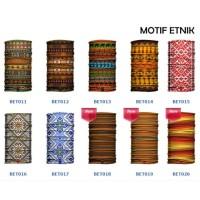 Masker Buff Bandana Motif Etnik Nusantara Batik Kain Baf Multifungsi i