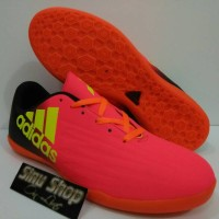 Sepatu Futsal Adidas x thechfit peach black stabilo