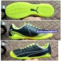 Sepatu Futsal Puma - Hitam Hijau Stabilo Terang (Premium)