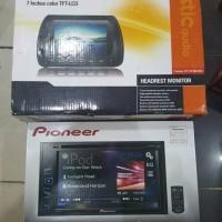 paket audio pioneer avh195dvd dan Headrest acoustic aud #audio mobi