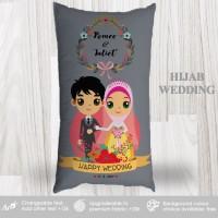 Bantal Custom Kado Wedding - Hijab Wedding