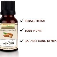 HAPPY GREEN 100% PURE Almond Oil - Minyak Almond Cosmetic Grade 80mL