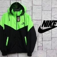 Jaket Nike Kombinasi Stabilo Hitam Parasut
