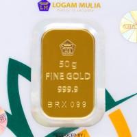 50 GR (GRAM) GOLDBAR/LOGAM MULIA/LM/EMAS BATANGAN ANTAM BERSERTIFIKAT