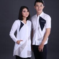 Baju Couple Putih / Pasangan Baju Formal Undangan / Pakaian Couple G S