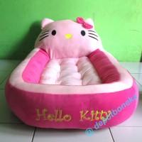 Kasur bayi motif boneka Hello kitty warna pink