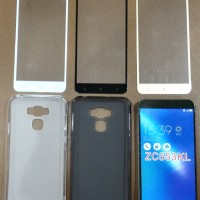 Paket Asus Zenfone 3 Max ZC553KL 5.5 - Tempered Glass Full + Softcase