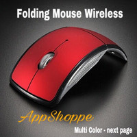 WIRELESS MOUSE ARC FOLDING USB 2.4Ghz MULTI COLOR - BLUE
