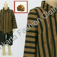 Setelan Baju + Celana + Blangkon Surjan Lurik 0, S , M Anak Adat Jawa