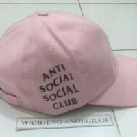 Topi Baseball Anti Social Social Club Soft Pink