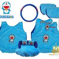 Sarung Jok Mobil 6 in 1 / Car Set Bantal Mobil 6in1 Doraemon