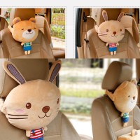 Bantal Kepala Jok Mobil Bear Beruang Rabbit Kelinci Lucu