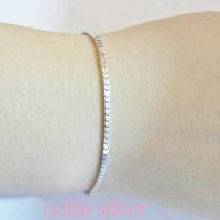 gelang tangan milano/perhiasan perak silver 925 lapis emas putih