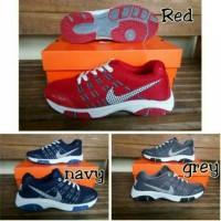 Sepatu Nike Marathon Merah Biru Dongker Navy Abu