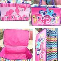 MURAH!!! Travel Bag Kanvas Koper Anak Karakter Little Pony Pink