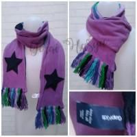 syal scarf shawl ungu gapkids u anak laki laki perempuan wanita pria