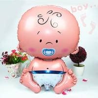 Balon Foil Karakter Baby Boy Biru / Dekorasi Baby Shower hbd bayi laki