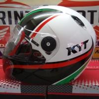 Helm KYT x ROCKET World Class Helmet White Red Green