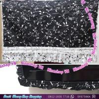 Cover TV,Bando TV,Tutup TV LED/LCD Motif black white floral poni