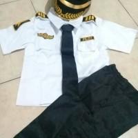 Seragam Anak Pilot Ukuran 1 - 4 thn | Baju Karnaval |Kostum Anak Pilot