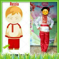 Sz 2-7 Th Kostum Negara Rusia/Baju Tradisional /Baju Anak Cowo