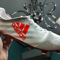 Trendy Sepatu Bola / Soccer Adidas Adizero F50 99 Gram White Solar Red