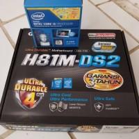 motherboard gigabyte h81m-ds2 + intel core i5 4460