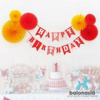 Balonasia Dekorasi Backdrop Set Ulang Tahun - Garis Polkadot