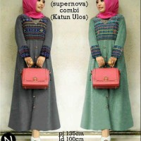 6751-Maxi Ulos Gamis Baju Muslim Limited