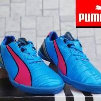 Sepatu Futsal Puma King Biru Hijau Grade Or