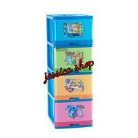 Lemari Plastik Lion Star / Container Laci Excel L4 Susun 4