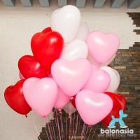 Balonasia 30 Pcs Balon Latex Love Motif Polos