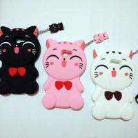 Xiaomi Redmi Note 4 Softcase Silikon 3D Kawaii Cat Fashion Backcase
