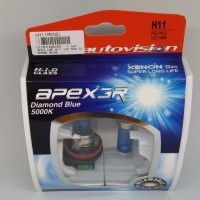 BOHLAM LAMPU MOBIL Autovision APEX3R DIAMOND BLUE H11 12V 55W 5000K