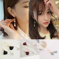 Anting Panjang Import Korea Bunga Mutiara Termurah (Earring Import)
