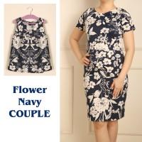 dresscouple   Flower Navy   baju kembar   ibu dan anak l Dresscouple