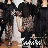 Baju Couple Batik Pesta (Sepasang Atasan Kebaya+Rok+Kemeja Cowok)