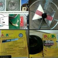Paket Antena Tv Wajan Bolik Plus Kabel 20Meter Tanaka Plus Jek