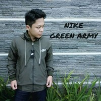 Jaket Nike Parasut Windrunner Green Army Bukan BB parka bomber vans dc
