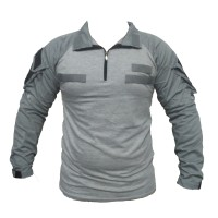 combat shirt velcro - baju kaos tactical - baju lapangan