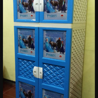 Lemari Plastik Apollystar Gantung Susun 4 Motif Frozen