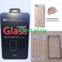 Paket Iphone 7 Plus Tempered Glass + Acrylic Anticrack Case