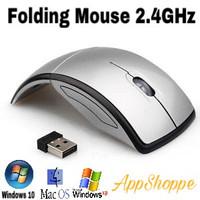 WIRELESS MOUSE ARC FOLDING USB 2.4Ghz SILVER
