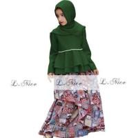 Baju Gamis Dress Anak Perempuan Hijau - 12-18 Bulan