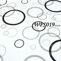 WPS019 BLACK SILVER CIRCLE wallpaper-dinding walpaper stiker dinding