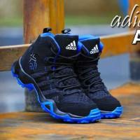 sepatu casual pria adidas ax2 high made in vietnam black blue 39-44