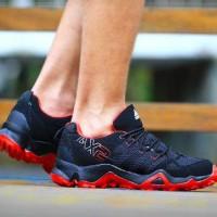 sepatu casual pria adidas ax2 made in vietnam black red 39-44 import